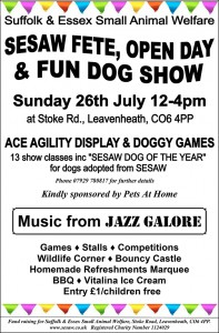 Fete, Open Day & Fun Dog Show - 26th July 2015