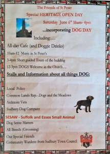 Sudbury Dog Day poster