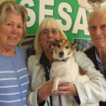 SESAW volunteer Barbara welcomed Hadleigh supporters Julie and Peter Hedges with their dog, Millie to her Bonanza Sale last month.