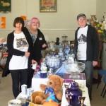 SESAW volunteers Joan, Debbie and Keith at Long Melford Spring Sale.
